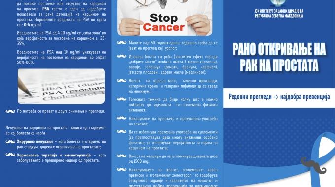 Месец на машкото здравје: Рак на простата